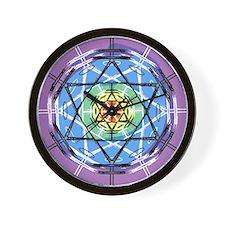 Disc Basket Circle Star Wall Clock