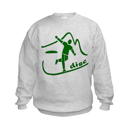 Disc Launch Green Kids Sweatshirt
