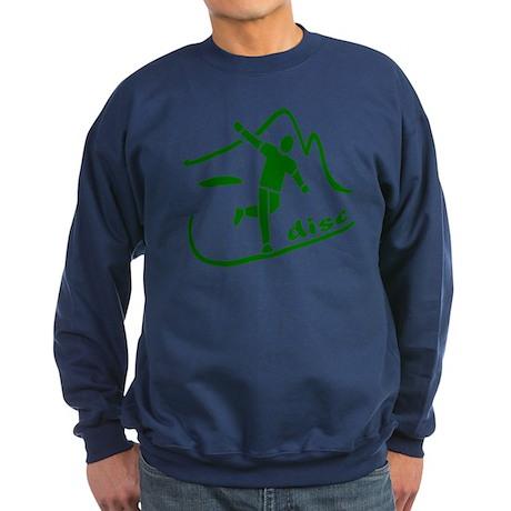 Disc Launch Green Sweatshirt (dark)