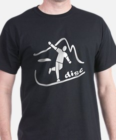 Disc Launch Black T-Shirt