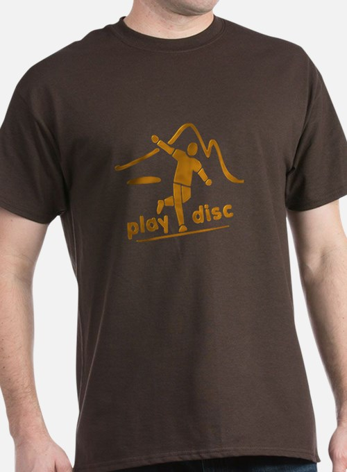 Disc Golf Launch Rust T-Shirt