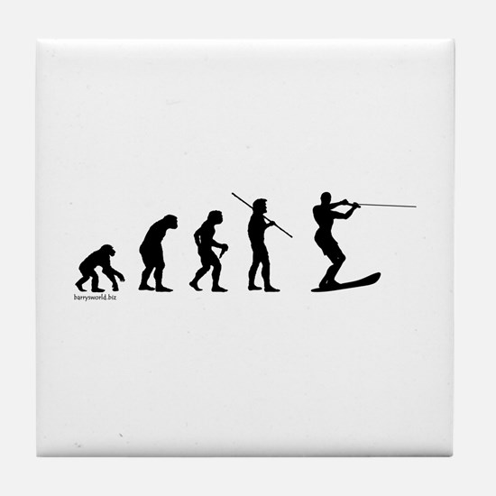 Water Ski Evolution Tile Coaster
