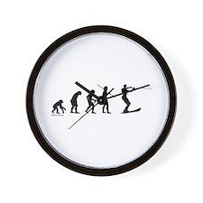 Water Ski Evolution Wall Clock
