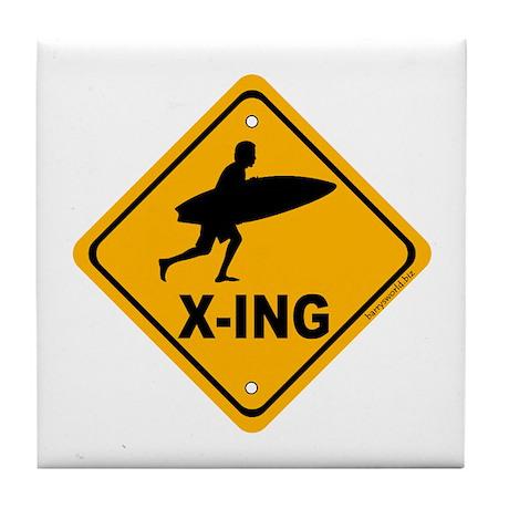 Surf X-ing Tile Coaster