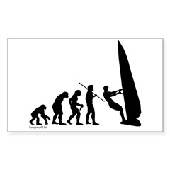 Windsurf Evolution Rectangle Sticker 50 pk)