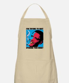 Obama Trying To Quit BBQ Apron