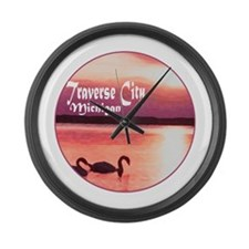 Unique Traverse city Large Wall Clock