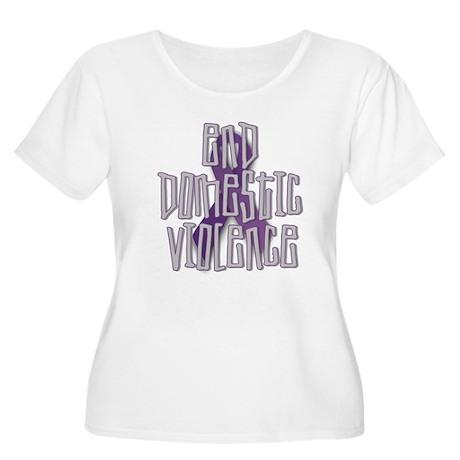 End Domestic Violence Women's Plus Size Scoop Neck