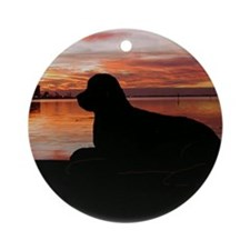 newf sunset Ornament (Round)