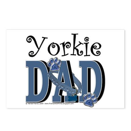Yorkie Dad Postcards (Package of 8)