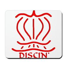 Asiatic Discin' Design Red Mousepad