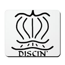Asiatic Discin' Design B&W Mousepad