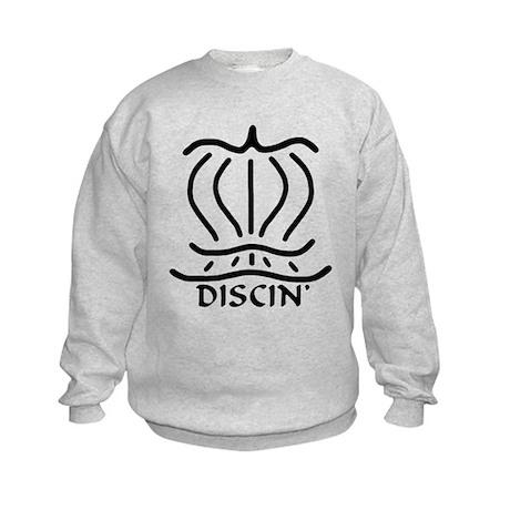 Asiatic Discin' Design B&W Kids Sweatshirt