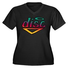 Disc Golf Text Shape1 Women's Plus Size V-Neck Dar