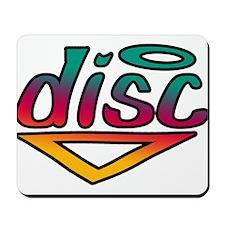 Disc Golf Text Shape1 Mousepad