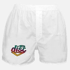 Disc Golf Text Shape1 Boxer Shorts