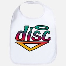Disc Golf Text Shape1 Bib
