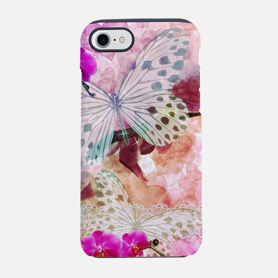Orchids and Butterflies iPhone 7 Tough Case