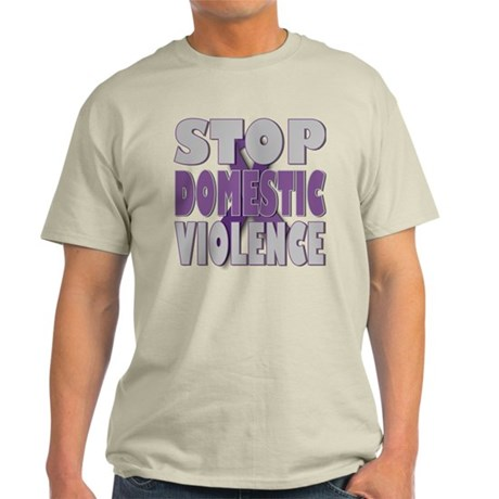 Stop Domestic Violence Light T-Shirt