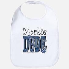 Yorkie Dude Bib