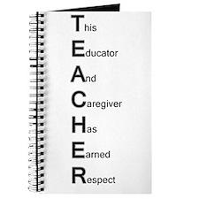 Teacher Respect Journal