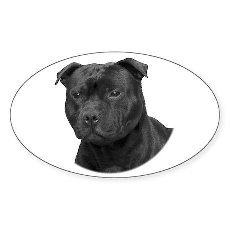 Stafford head Oval Sticker