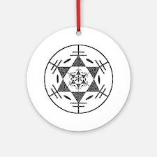 Disc Golf Sketch Charcoal ori Ornament (Round)