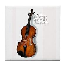Viola Gifts Tile Coaster