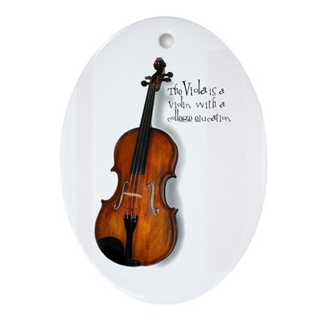 Viola Gifts Oval Ornament