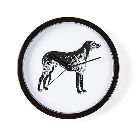 Scottish Deerhound Wall Clock
