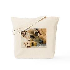 Cute German shepherd eyes Tote Bag