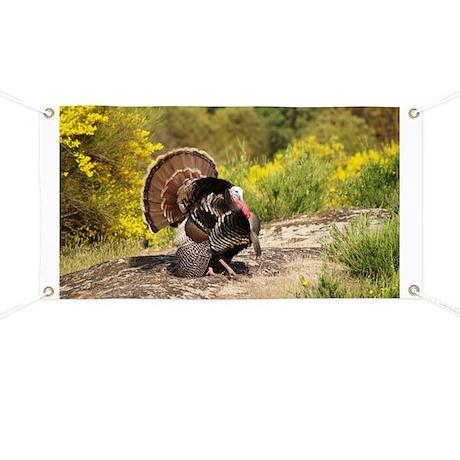 Wild Turkey Gobbler Banner