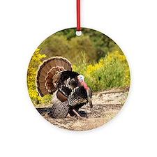 Wild Turkey Gobbler Ornament (Round)