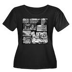 Ammonwear Women's Plus Size Scoop Neck Dark T-Shir