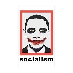 Obama Joker Socialism Rectangle Sticker 10 pk)