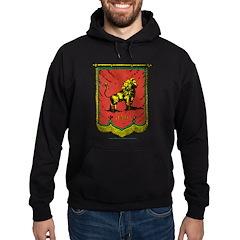 Jah Lion Banner Hoodie (dark)