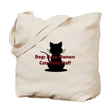 Cat Staff Tote Bag