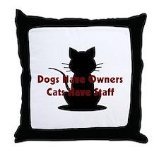 Cat Staff Throw Pillow
