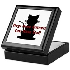 Cat Staff Keepsake Box