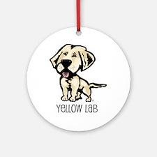 Yellow Lab Ornament (Round)