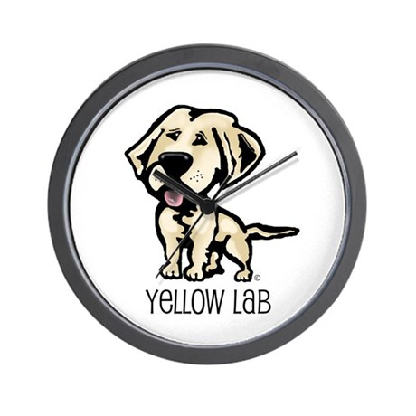 Yellow Lab Wall Clock
