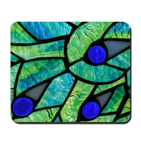 Peacock Stained Glass Mousepad