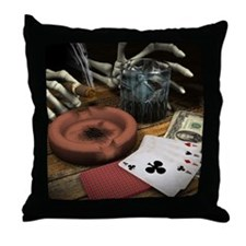 POKER HANDS! Throw Pillow