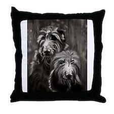 Cute Scottish deerhound Throw Pillow