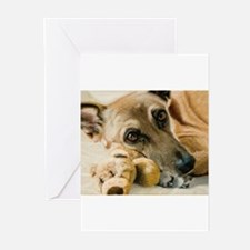 Cute German shepherd eyes Greeting Cards (Pk of 20)