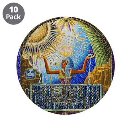"""Magical Egypt 3.5"""" Button (10 pack)"""