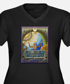Magical Egypt Women's Plus Size V-Neck Dark T-Shir