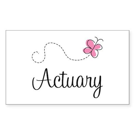 Cute Actuary Rectangle Sticker