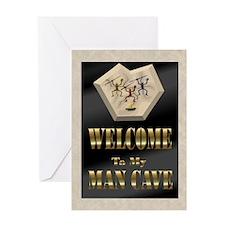 Man Cave Greeting Card