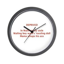 DEPRIVED Wall Clock